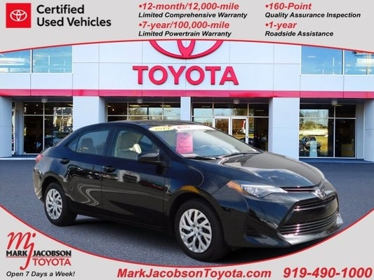 2019 Toyota Corolla Le In Durham Nc Mark Jacobson