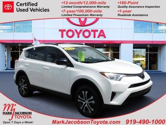 2018 Toyota Rav4 Le In Durham Nc Mark Jacobson